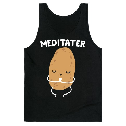 Meditater Meditating Potato Tank Top
