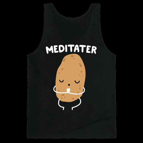 Meditater Meditating Potato Tank Top