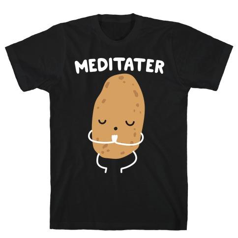 Meditater Meditating Potato T-Shirt