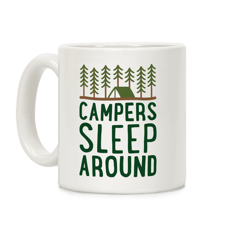 Campers Sleep Around Coffee Mug