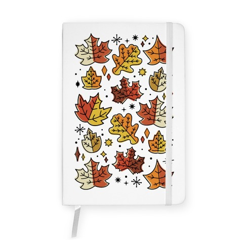 Mid Century Modern Fall Leaves Notebook