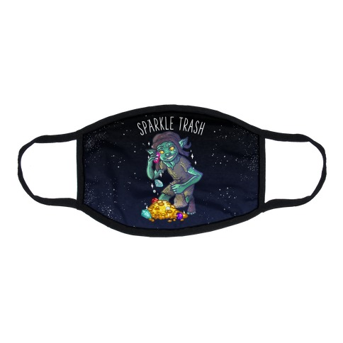 Sparkle Trash Goblin Flat Face Mask
