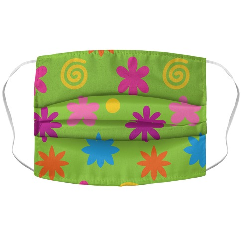 2000's Funky Flower Pattern Accordion Face Mask