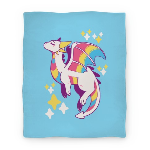 Pan Pride Dragon Blanket