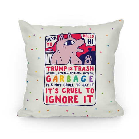Trump Is Trash Comic Pillow