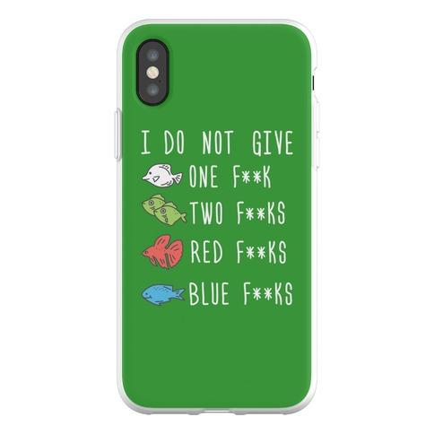 Red F**ks Blue F**ks Parody Censored Phone Flexi-Case