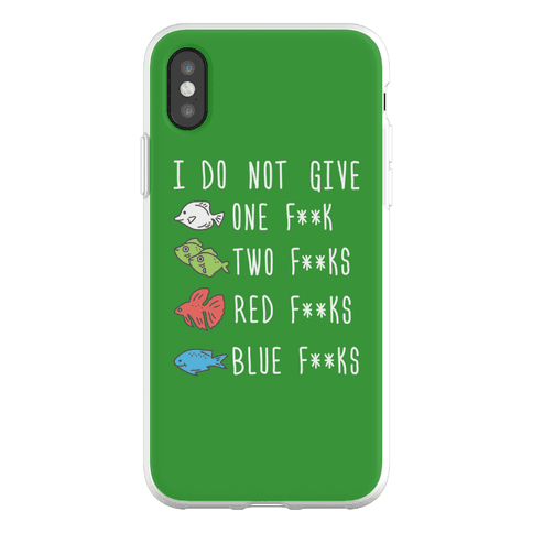 Red F**ks Blue F**ks Parody Censored Phone Flexi-Case
