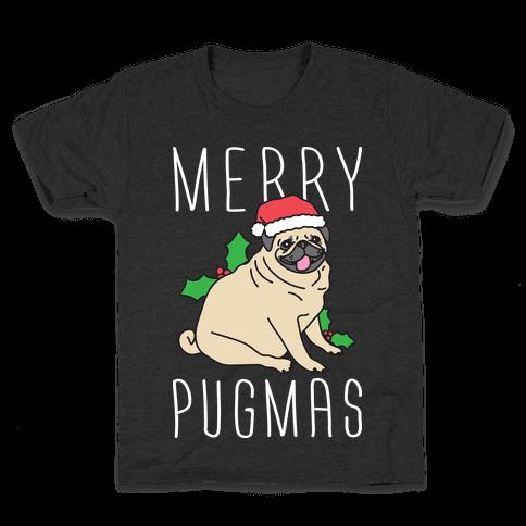 Merry Pugmas Kids T-Shirt