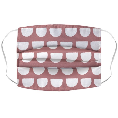 Simple Scallop Pattern Dusty Pink Face Mask