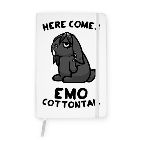 Here Comes Emo Cottontail Notebook