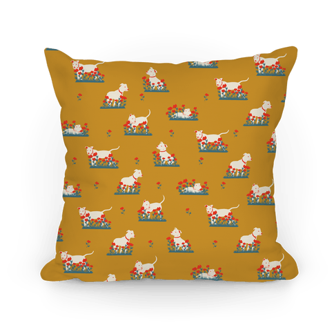 Pit Bulls and Poppies Pillow