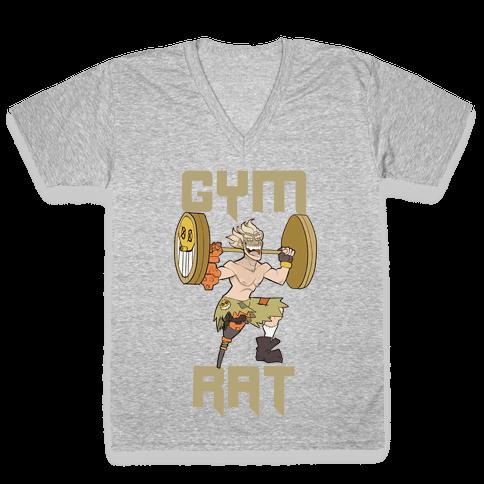 Gym Rat V-Neck Tee Shirt