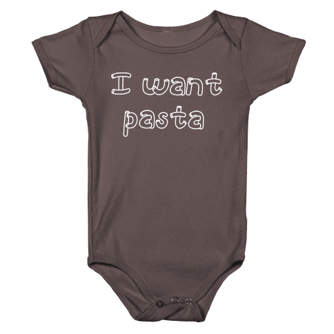 I Want Pasta Baby One-Piece