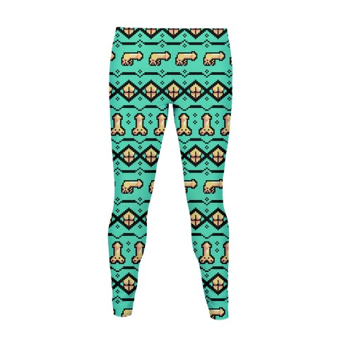 Dicks and Butts Ugly Sweater Pattern Women's Legging