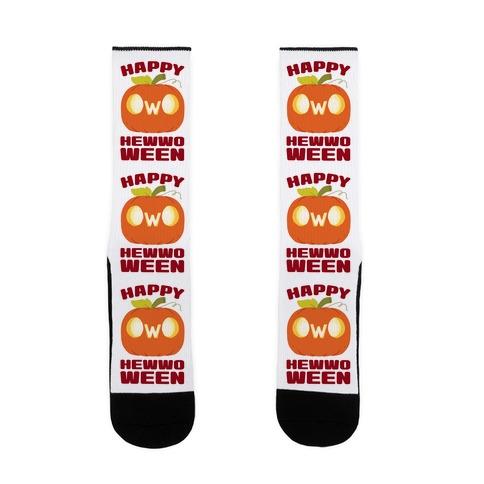 Happy Hewwoween OwO Sock
