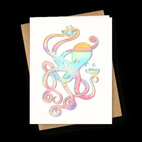 Tea Shanty Kraken Greeting Card