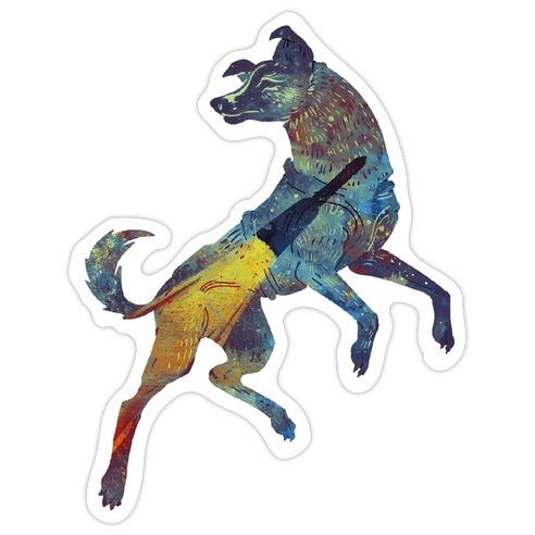 Astronaut Dog Laika Die Cut Sticker