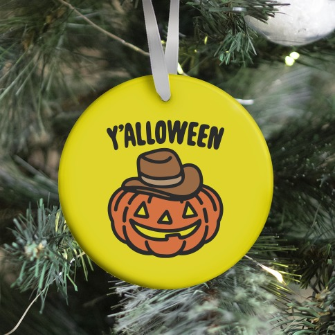 Y'alloween Halloween Country Parody Halloween Tote Bag Ornament
