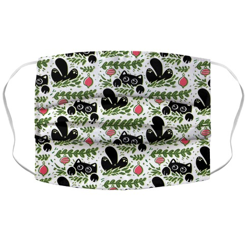 Cat In Christmas Tree Pattern Accordion Face Mask
