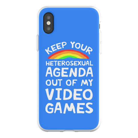 Keep Your Heterosexual Agenda Out Of My Video Games Phone Flexi-Case
