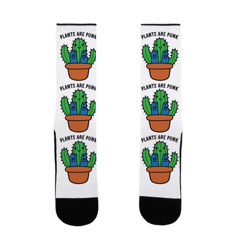 Plants Are Punk Sock