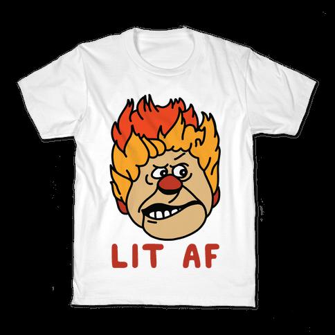 Lit AF Heat Miser Kids T-Shirt