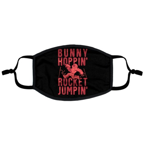 Bunny Hoppin' & Rocket Jumpin' Flat Face Mask