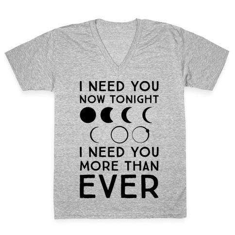 Total Eclipse Parody V-Neck Tee Shirt
