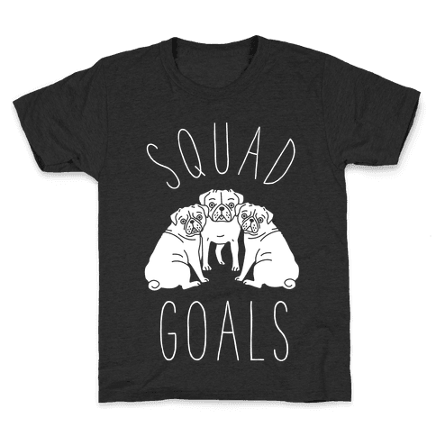 Squad Goals Pugs Kids T-Shirt