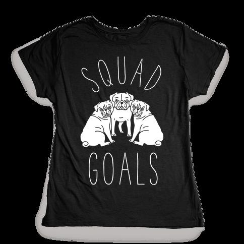 Squad Goals Pugs Womens T-Shirt