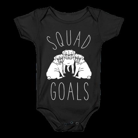 Squad Goals Pugs Baby Onesy