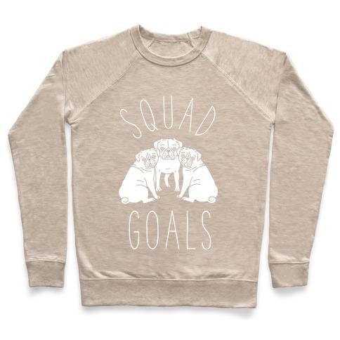 06ca76d5a Squad Goals Pugs Crewneck Sweatshirt | LookHUMAN