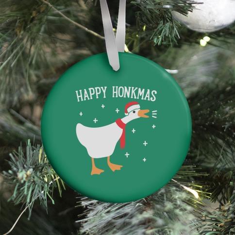 Happy Honkmas Goose Ornament
