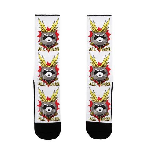 All Trash (All Might Raccoon) Sock