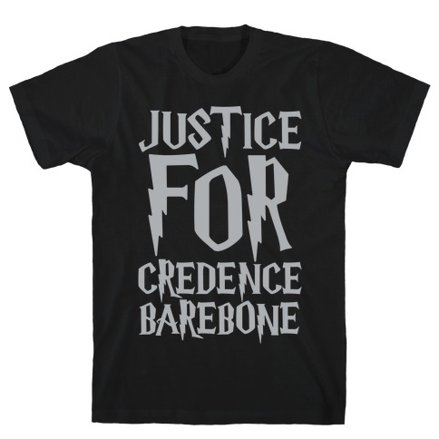 Justice For Credence Barebone White Print Mens T-Shirt