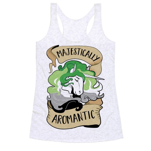 Majestically Aromantic Racerback Tank Top