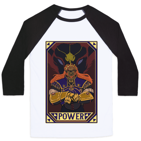 Power - Ganondorf Baseball Tee