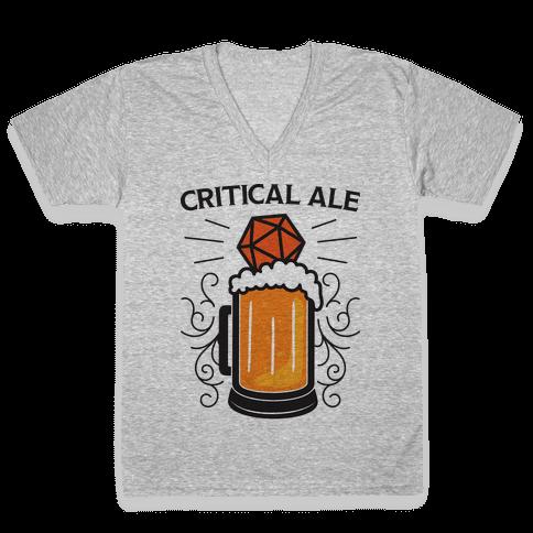 Critical Ale V-Neck Tee Shirt
