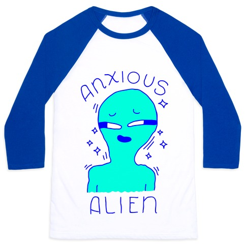 Anxious Alien Baseball Tee