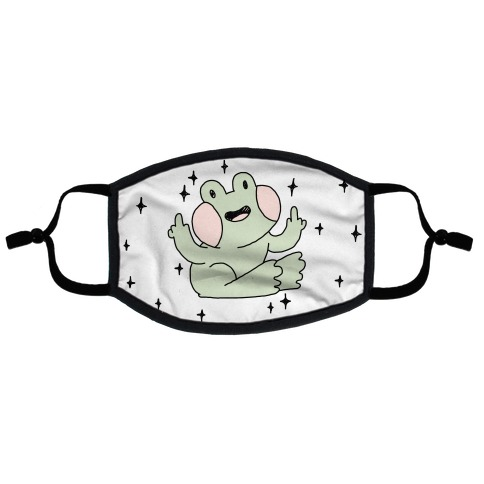 Flicky Frog Flat Face Mask