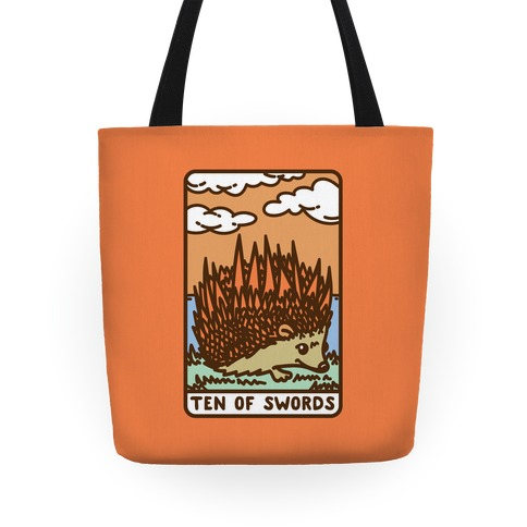 Ten of Swords HedgeHog Tarot Parody Tote