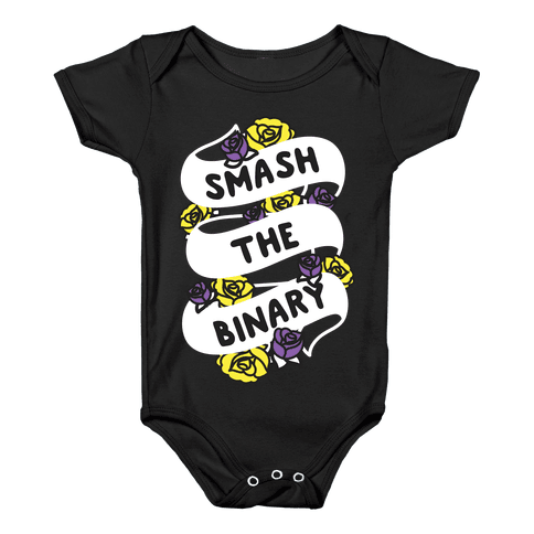 Smash The Binary Ribbon Baby Onesy