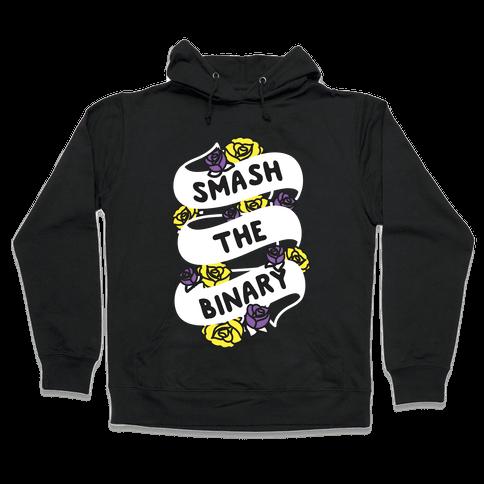 Smash The Binary Ribbon Hooded Sweatshirt