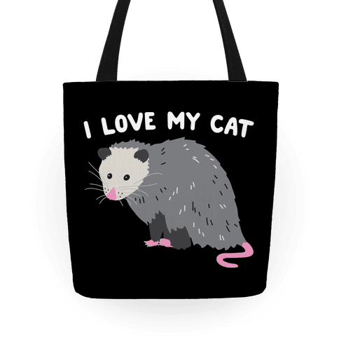I Love My Cat Opossum Tote