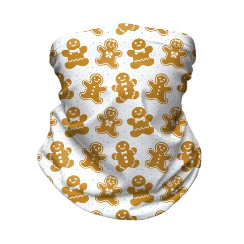 Gingerbread Man Pattern Neck Gaiter