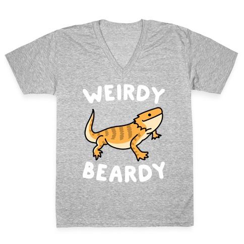 Weirdy Beardy Bearded Dragon V-Neck Tee Shirt