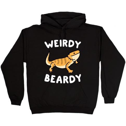 Weirdy Beardy Bearded Dragon Hooded Sweatshirt