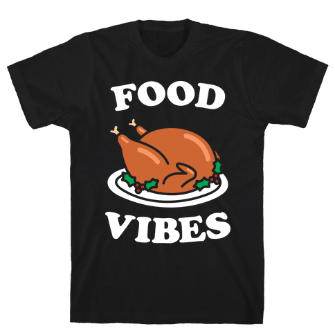 Food Vibes (White) Mens T-Shirt