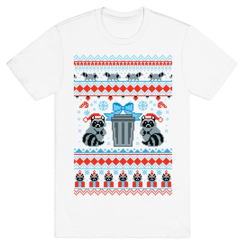 Raccoon Ugly Christmas Sweater T-Shirt
