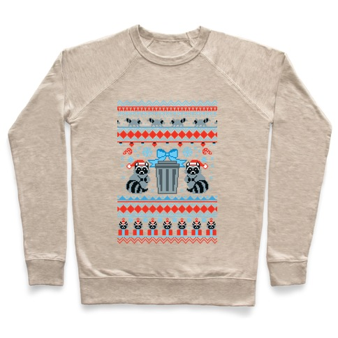 Raccoon Ugly Christmas Sweater Pullover